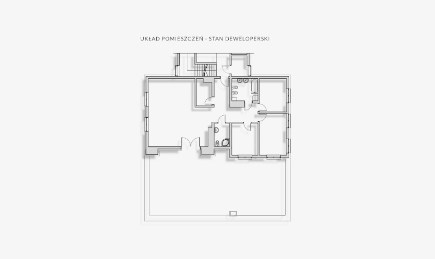 Przykład zmian lokatorskich - mieszkanie przed zmianami
