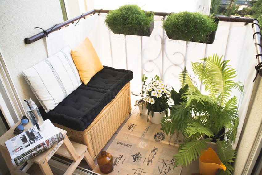Pomysł na bardzo mały balkon