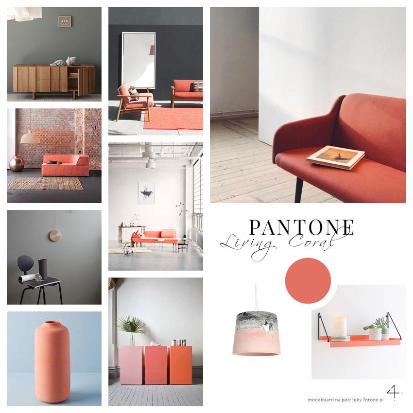 Pantone kolor roku 2019, moodboard Pantone we wnetrzach