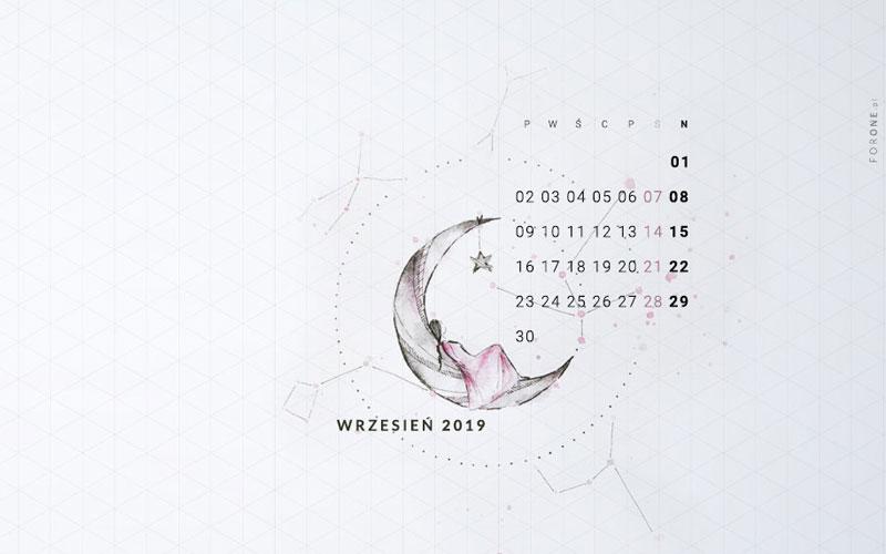 Ilustrowana tapeta na wrzesień 2019