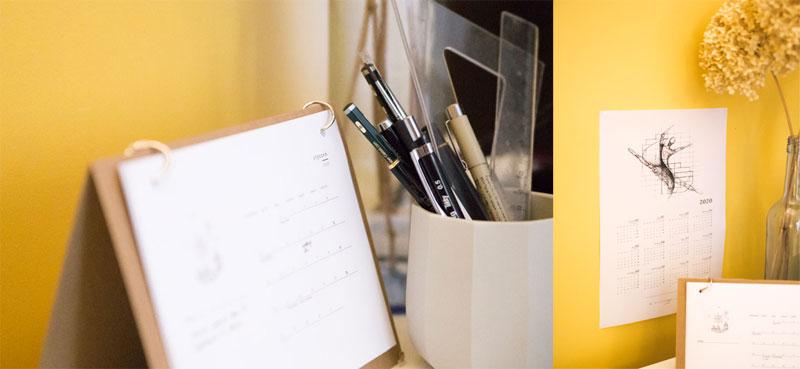 Kalendarz miesięczny na biurko i roczny do powieszenia na ścianę